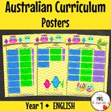 Year 1 Australian Curriculum Posters - English