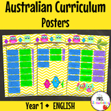 Year 1 Australian Curriculum Posters - English