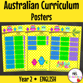 Year 2 Australian Curriculum Posters - English