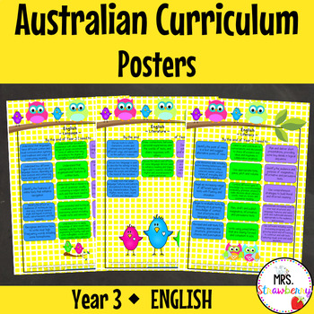 Year 3 Australian Curriculum Posters - English