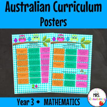 Year 3 Australian Curriculum Posters - Mathematics