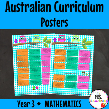 Year 3 Australian Curriculum Posters - Mathematics
