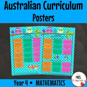 Year 4 Australian Curriculum Posters - Mathematics