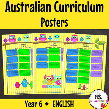 Year 6 Australian Curriculum Posters - English