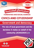 Australian Curriculum Civics and Citizenship – Government and democracy – Year 4