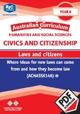 Australian Curriculum Civics and Citizenship – Laws and citizens – Year 6