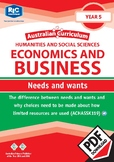 Australian Curriculum Economics and business - Needs and wants - Year 5