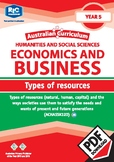Australian Curriculum Economics and business - Types of Resources - Year 5 ebook