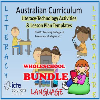 Australian Curriculum English Activities & Lesson Plans Bundle P/K-Year 5