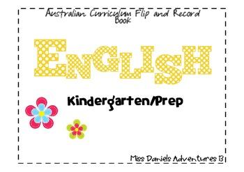 Australian Curriculum English Flap Book Prep/Kindergarten