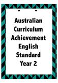 Australian Curriculum English Standard Posters - Year 2