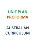 Australian Curriculum English Unit  Plan Proforma