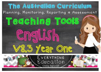 Australian Curriculum English v8.3 Year 1 Teacher Tools