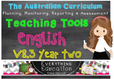 Australian Curriculum English v8.3 Year 2 Teacher Tools