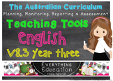 Australian Curriculum English v8.3 Year 3 Teacher Tools