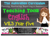 Australian Curriculum English v8.3 Year 5 Teacher Tools