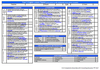 Australian Curriculum English v8.3 Year 5 Teacher Tools