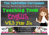 Australian Curriculum English v8.3 Year 6 Teacher Tools
