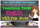 Australian Curriculum English V 8.3 YEAR 7 Monitoring and Planning Tools
