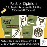Australian Curriculum Fact Or Opinion - Minecraft® Themed