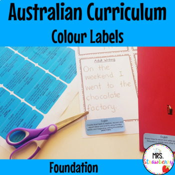 Australian Curriculum Foundation Learning Outcome Labels/ Tags