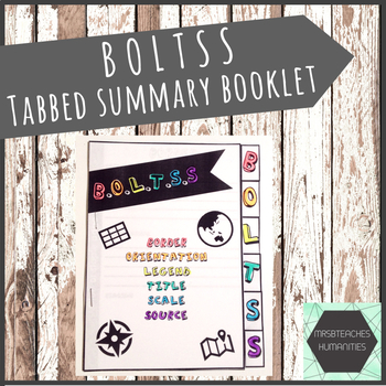 BOLTSS mapping features tabbed booklet