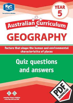 Australian Curriculum Geography Quizzes – Year 5