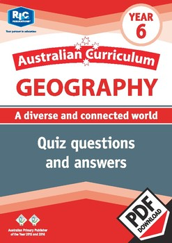 Australian Curriculum Geography quizzes – Year 6