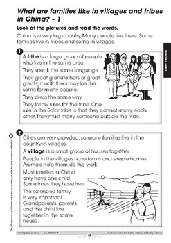 Australian Curriculum History: Family structures – Foundation