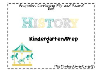 Australian Curriculum History Flap Book Prep/Kindergarten