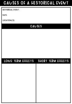 Australian Curriculum - History skills: Cause & effect