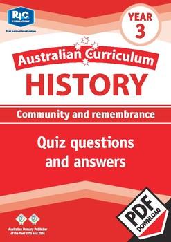 Australian Curriculum History quizzes – Year 3