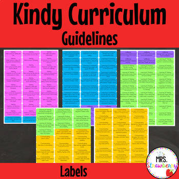 Australian Curriculum Kindy (WA) Curriculum Guidelines Labels/ Tags