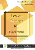Australian Curriculum Lesson Planner -  FOUNDATION Maths
