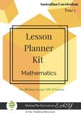 Australian Curriculum Lesson Planner - Maths Year 1