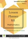 Australian Curriculum Lesson Planner - Maths Year 3