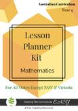 Australian Curriculum Lesson Planner - Maths Year 4