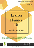 Australian Curriculum Lesson Planner - Maths Year 4