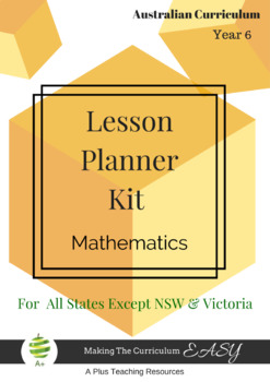 Australian Curriculum Lesson Planner - Maths Year 6