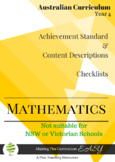 Australian Curriculum Planning Tool & Checklists - YEAR 4 MATHS