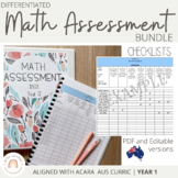 Australian Curriculum Mathematics Assessment Checklists: GRADE 1