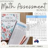 Australian Curriculum Mathematics Assessment Checklists: GRADE 3