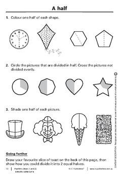 Australian Curriculum Mathematics – Fractions – Year 1 and Year 2 ebook