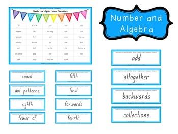 Australian Curriculum Mathematics Student Vocabulary - Foundation
