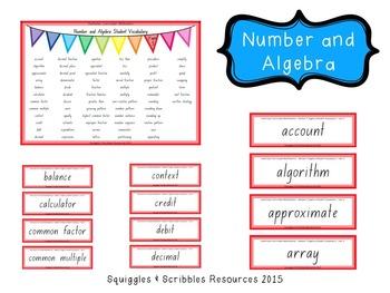 Australian Curriculum Mathematics Student Vocabulary - Year 5