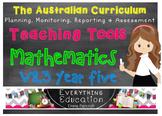 Australian Curriculum Mathematics v8.3 Year 5 Teacher Tools
