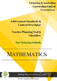 Australian Curriculum Maths Checklists Foundation Level Vi