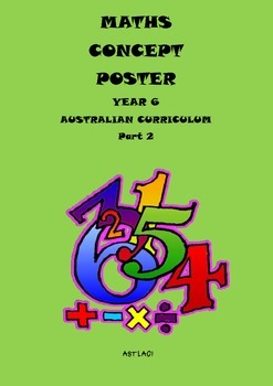 Aust Curriculum -  Maths Concept Assessment Posters Year 6
