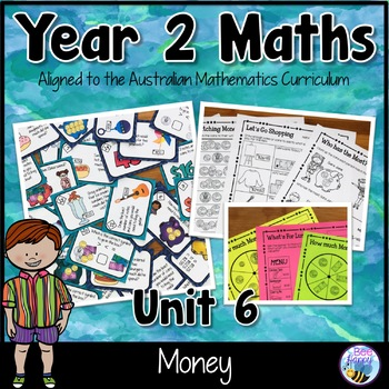 Australian Curriculum Money Worksheets and Task Cards Year 2