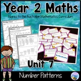 Australian Curriculum Year 2 Maths Number Patterns Worksheets and Task Cards